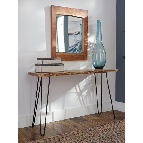 Stone Media Console and Mirror Set by Union Rustic