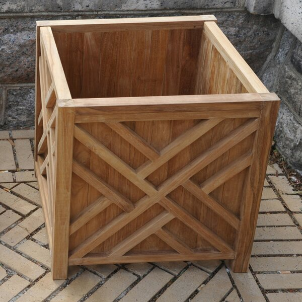 Chippendale Teak Planter Box by Regal Teak