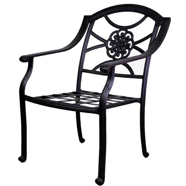 Ross Stacking Patio Dining Chair by Fleur De Lis Living