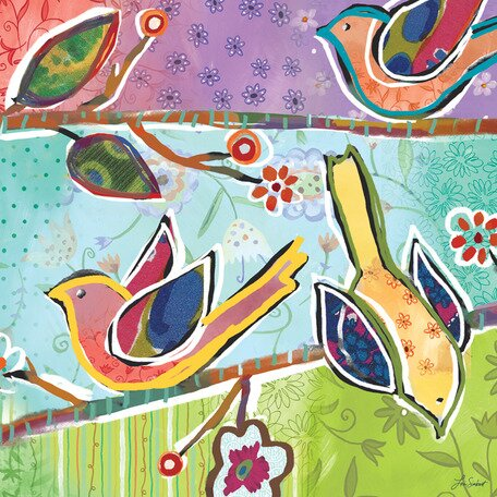Charmed Birdies Canvas Art by Oopsy Daisy