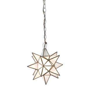 Star shaped pendant lighting wayfair star 1 light pendant aloadofball Choice Image