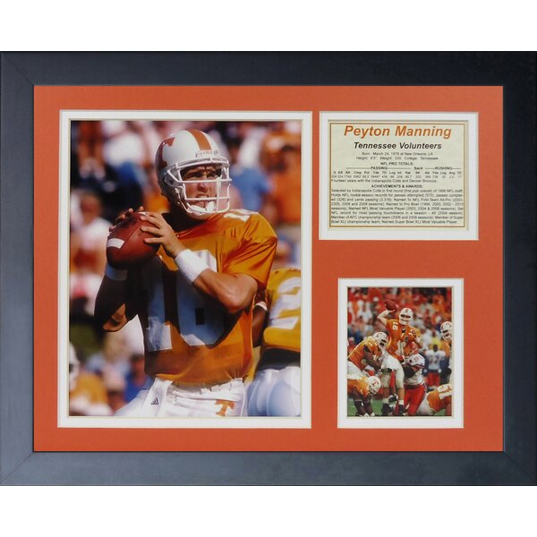 Peyton Manning - Tennessee Framed Memorabilia by Legends Never Die