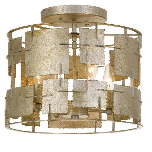 Dolson 4-Light Semi Flush Mount by World Menagerie