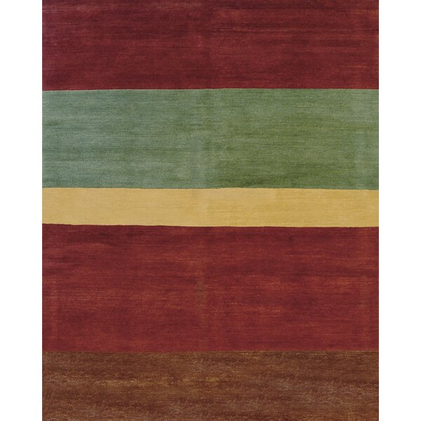 Core Hand-Knotted Wool Brown/Green Area Rug by Artisan Carpets