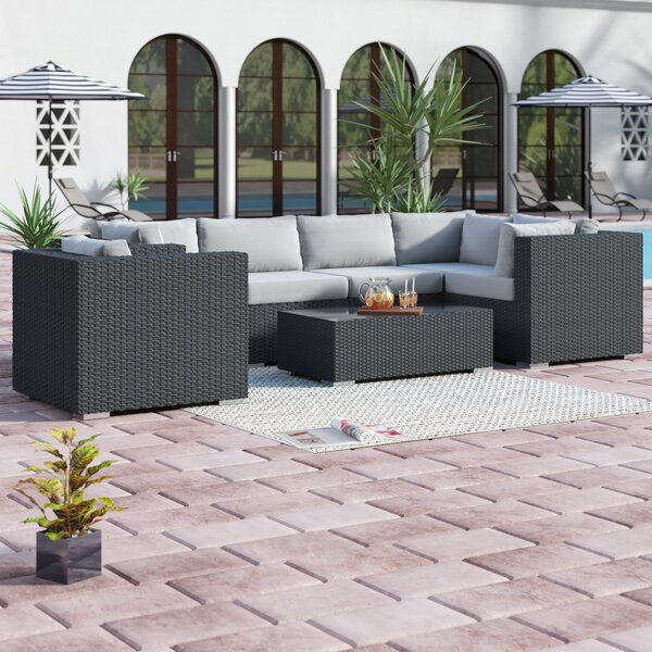 Tripp 7 Piece Sunbrella Sectional Set with Cushions by Brayden Studio