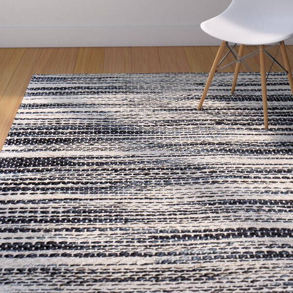 Alan Hand-Woven Ivory/Black Area Rug by Langley Street