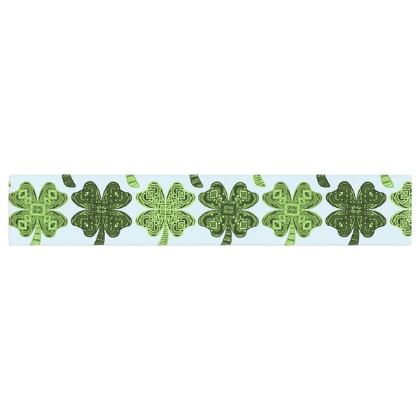 Art Love Passion Lucky You Shamrock Table Runner by East Urban Home