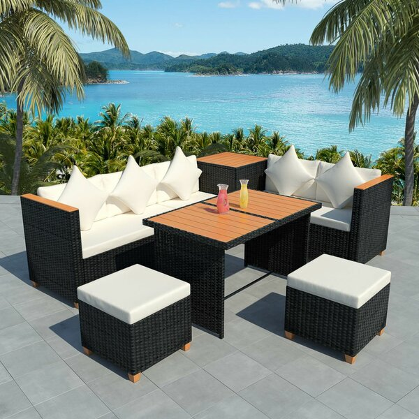 Coldfield Outdoor 6 Piece Sectional Seating Group with Cushions by Ivy Bronx Ivy Bronx