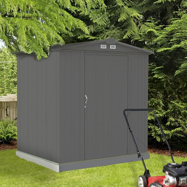 EZEE 6 ft. W x 5 ft. D Metal Tool Shed by Arrow