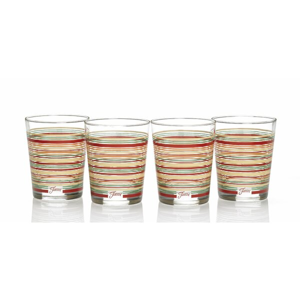 Stripes 15 Oz. Double Old Fashioned Glass (Set of 4) by Fiesta