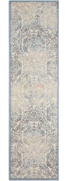 Arnott Sky Blue/Ivory Area Rug by Ophelia & Co.