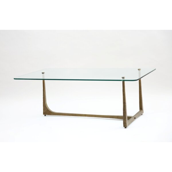 Leigh Iron Hammered Coffee Table by Corrigan Studio