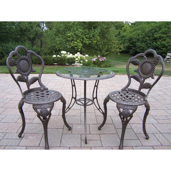 Sunflower 3 Piece Bistro Set by Oakland Living
