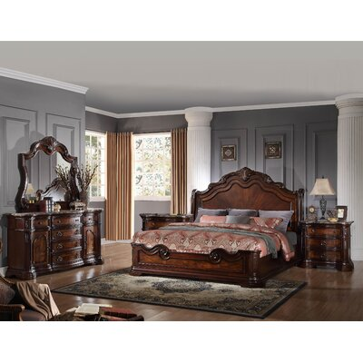 Fletcher Standard 5 Piece Bedroom Set Astoria Grand Size: King