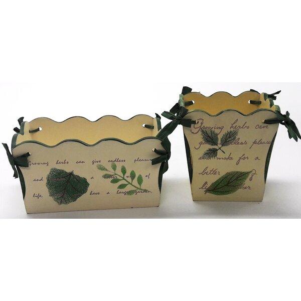 Pastrana 2-Piece Wood Decorative Planter Box Set by August Grove