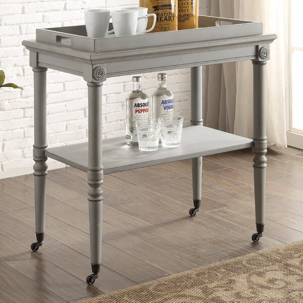 Poulan Tray Bar Cart By Ophelia & Co. Wonderful