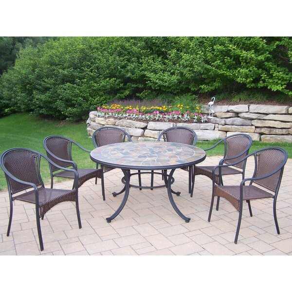 Tuscany Stone Art 7 Piece Dining Set by Oakland Living