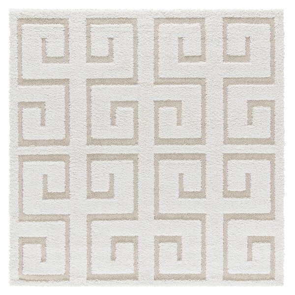 Artz Rectangle White/Beige Area Rug by Brayden Studio