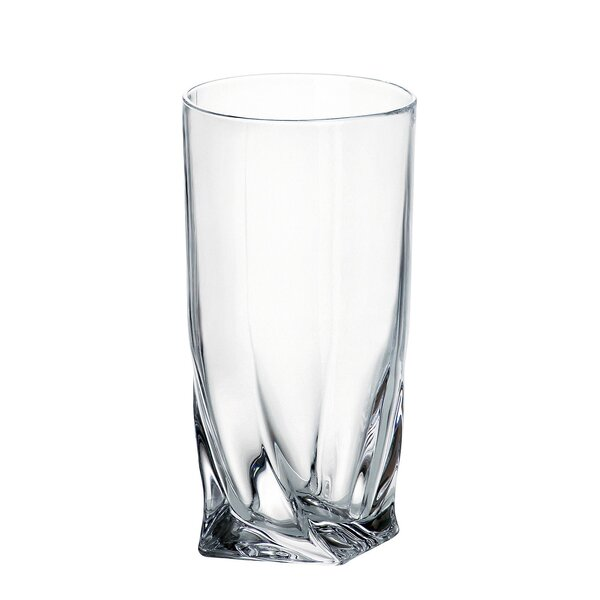 Quadro 11.83 oz. Highball Glass (Set of 6) by Red Vanilla