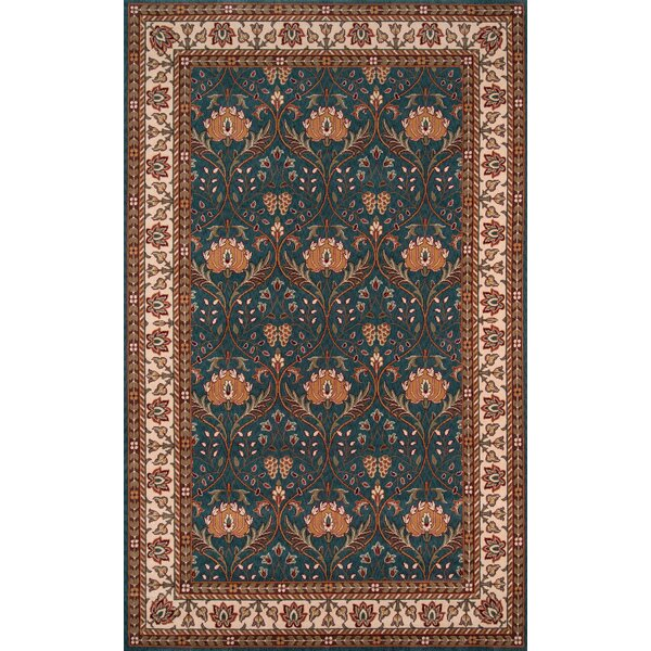 Forrestal Blue/Beige Area Rug by Astoria Grand