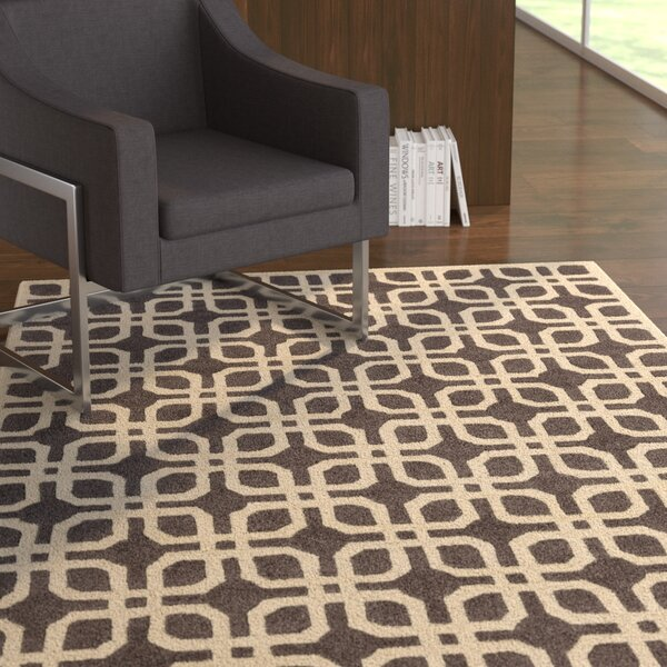 Murrah Gray & Ivory Area Rug by Ebern Designs