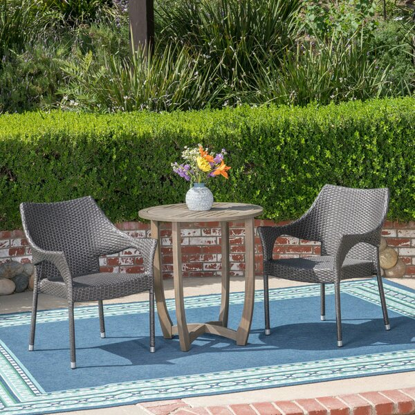 Trumbull 3 Piece Bistro Set by Wrought Studio