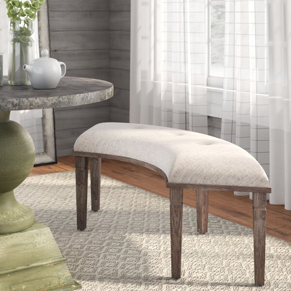 Bannoncourt Wood Bench by Laurel Foundry Modern Farmhouse