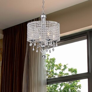 Read Reviews Oldman 4-Light Crystal Chandelier By House of Hampton
