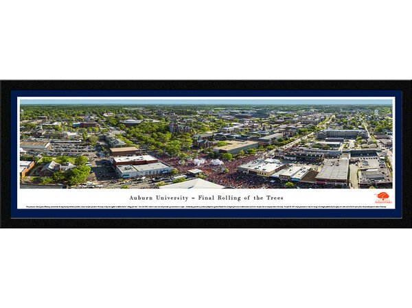 NCAA Auburn University - Oaks by James Blakeway Framed Photographic Print by Blakeway Worldwide Panoramas, Inc