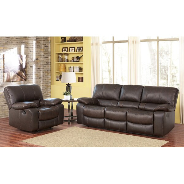 Husebye Reclining 2 Piece Leather Living Room Set by Latitude Run