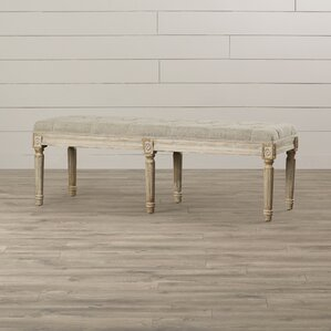 Letellier Wood Bench by Lark Manor