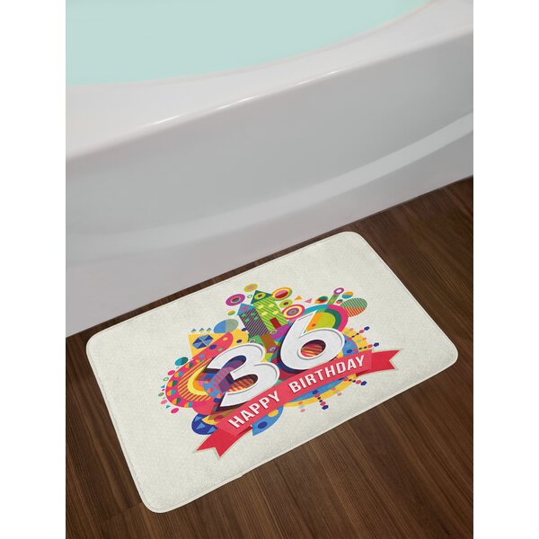 Thirty 36th Birthday Bath Rug by East Urban Home