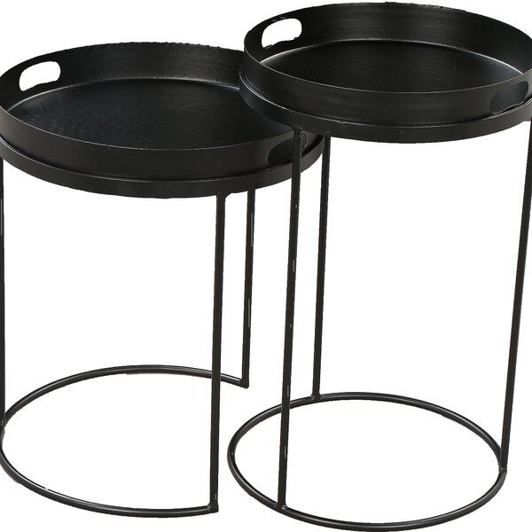 Homerville 2 Piece Nesting Tables by 17 Stories