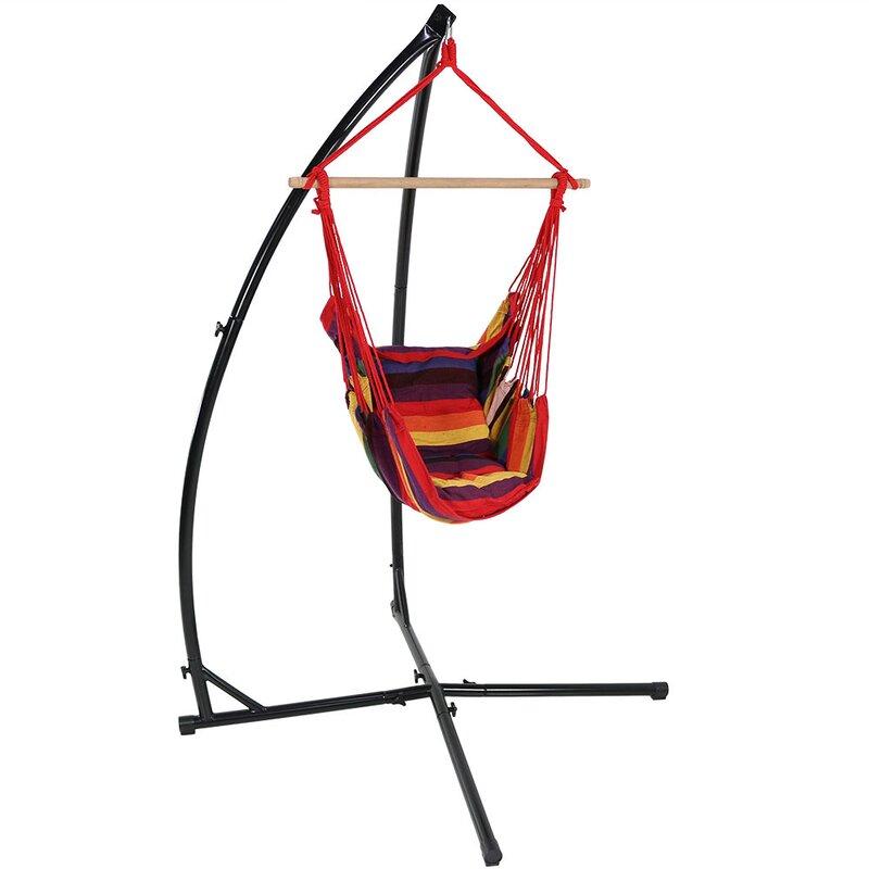 Freeport Park Kasandra Durable Metal Hammock Chair Stand Reviews