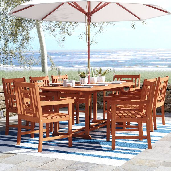 Monterry 9 Piece Dining Set by Beachcrest Home