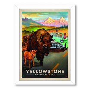 'KC NP Yellowstone Bison' Framed Vintage Advertisement by East Urban Home