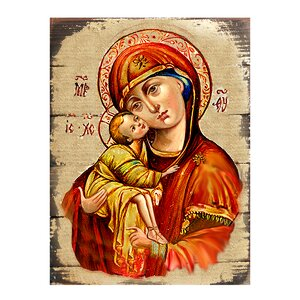 Inspirational Icon Vladimir Virgin Mary Painting by G Debrekht