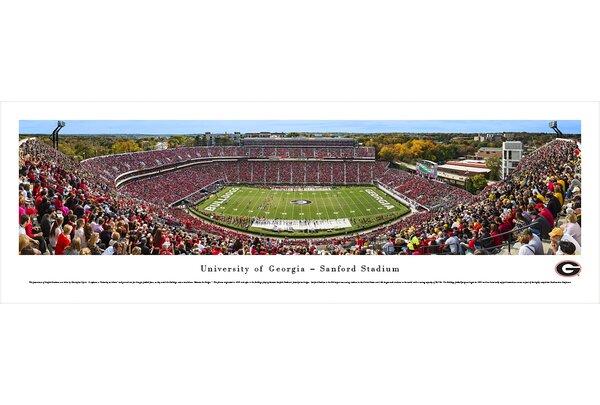 NCAA Georgia, University of - 50 Yard Line - Day by Christopher Gjevre Photographic Print by Blakeway Worldwide Panoramas, Inc