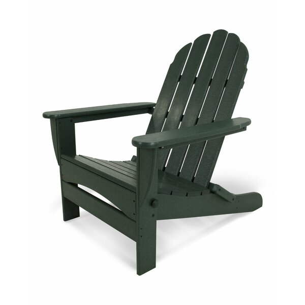 Classic Oversized Plastic Folding Adirondack Chair by POLYWOOD®