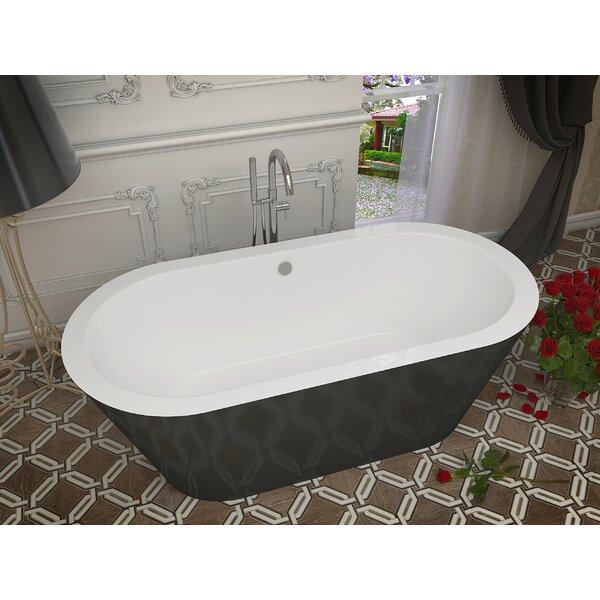 Dualita 70 x 31.25 Freestanding Soaking Bathtub by ANZZI