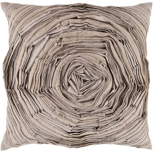 Baudemont Budding Flower Cotton Throw Pillow by One Allium Way