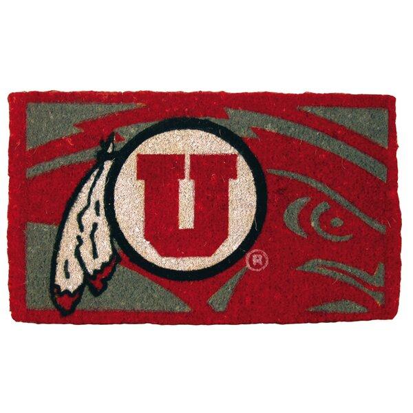 NCAA Utah Welcome Graphic Printed Doormat by Team Sports America