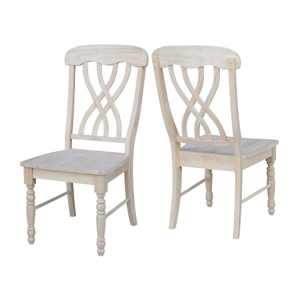 Fresh Anselme Solid Wood Dining Chair (Set Of 2) By August Grove Discount