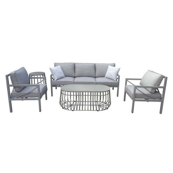 Wrigley 5 Piece Sofa Seating Group with Cushions by Brayden Studio
