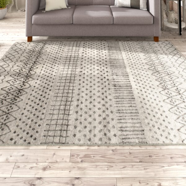 Cosima Ernest Dark Gray/Light Gray Area Rug by Laurel Foundry Modern Farmhouse