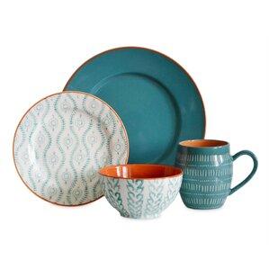 tangiers 16 piece dinnerware set service for 4 - Modern Dinnerware