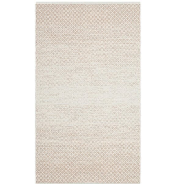 Alannah Hand Woven Beige/Ivory Area Rug by Williston Forge