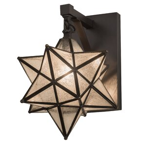 Read Reviews Raby Moravian Star Outdoor Sconce By World Menagerie