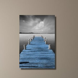 Tierra Desnuda Pop Blue by Moises Levy Photographic Print on Wrapped Canvas by Pingo World
