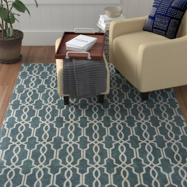 Pearle Hand-Woven Blue Area Rug by Red Barrel Studio
